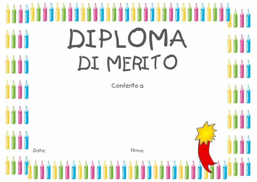 Bien connu Diplomi da stampare - Diplomi per bambini DF43