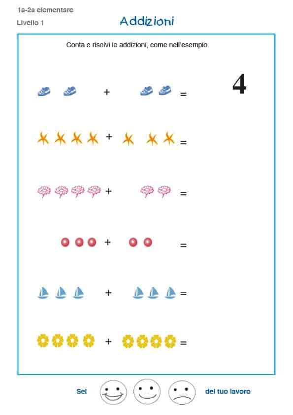 Conosciuto Matematica prima elementare, esercizi e problemi - schede  XV22