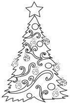 Immagini Di Alberi Di Natale Da Colorare E Stampare.Natale Disegni Di Alberi Di Natale Da Colorare Cose Per