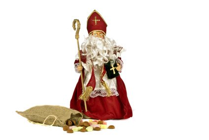 Traditional dutch culture: Santa Claus with a bag of gingernuts