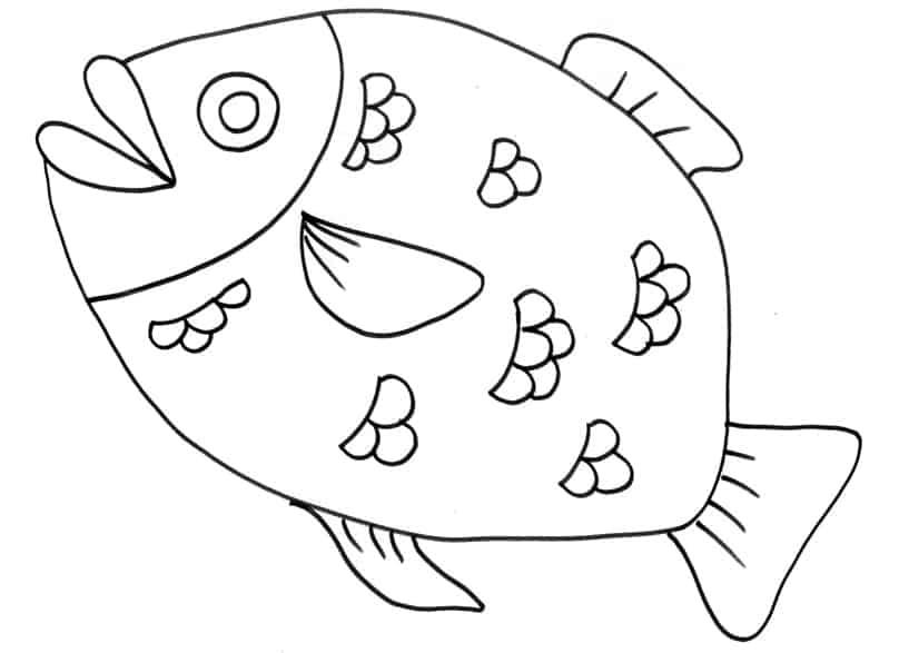 Grosso pesce con squame for Immagini di pesci da disegnare