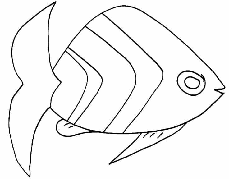 Pesce con righe for Pesci da colorare per bambini