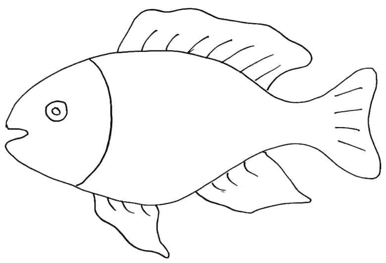 Pesce for Disegni di pesci da colorare e stampare gratis