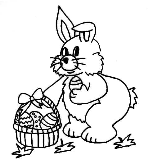 Ben noto Disegni di conigli per Pasqua - Cose Per Crescere QV42