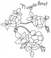 Disegni per bambini da stampare e colorare per la festa for Colorare le rose