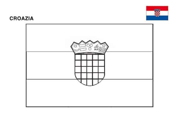 Bandiera della Croazia da colorare
