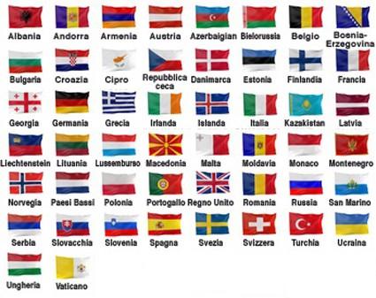 Disegni Di Bandiere Dei Paesi Europei Da Stampare