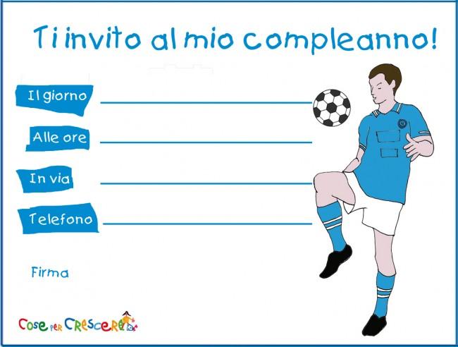 Invito di compleanno piccolo tifoso del Napoli