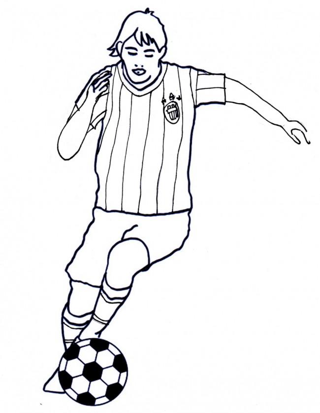 Disegno di calciatore con la maglia della juventus cose for Disegni da colorare calcio