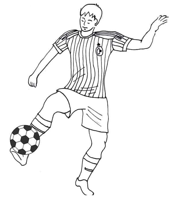 disegno di un calciatore del milan da colorare cose per