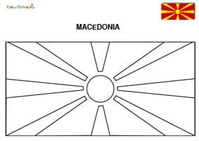 Bandiera macedone da colorare