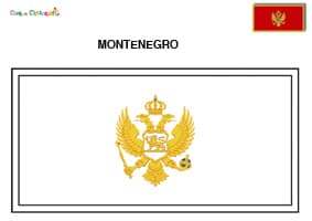 Bandiera del Montenegro da colorare