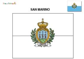 Bandiera di San Marino da colorare