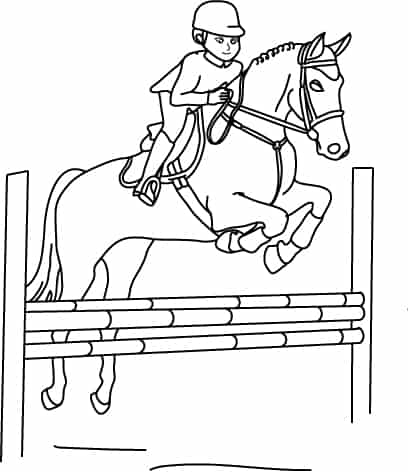 Disegni sull 39 equitazione da colorare cose per crescere for Disegni da colorare dei cavalli
