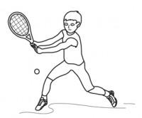 Bambino tennista da colorare