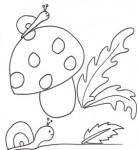 Disegni sull 39 autunno da colorare cose per crescere for Fungo da colorare per bambini