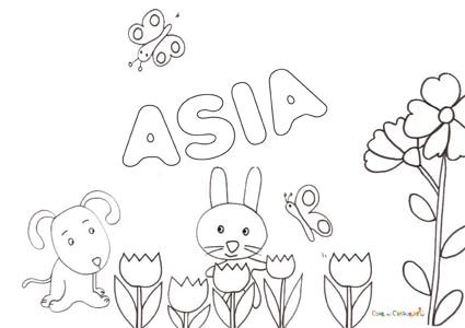 Cartina Asia Da Colorare.Nome Asia Da Colorare Disegno Da Stampare Gratis