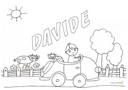 Nome Davide Da Colorare