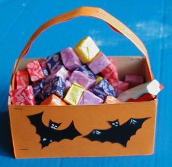 Cestino porta dolcetti per halloween