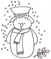 Disegni di pupazzi di neve da colorare cose per crescere - Dessin flocon de neige facile ...
