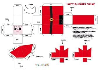 Paper toy babbo natale cose per crescere for Modelli di casa per la costruzione