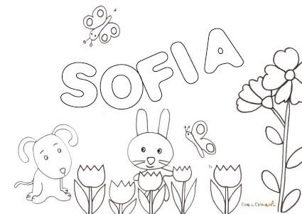disegni da colorare e stampare per bambini principessa sofia