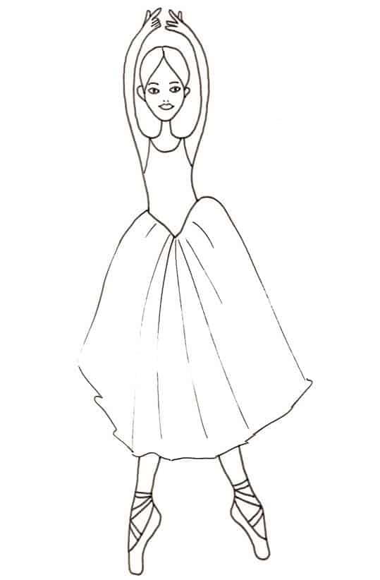 Super Ballerina con tutù da colorare - Cose Per Crescere MI62