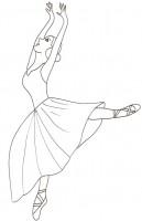 Disegni Di Ballerine Da Colorare Gratuitamente Disegni Di