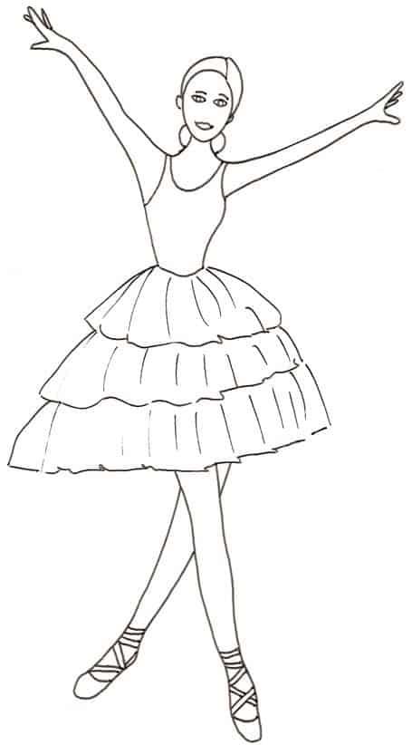 Disegno di ballerina che saluta cose per crescere for Ballerine disegnate