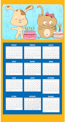 Calendario da parete per bambini