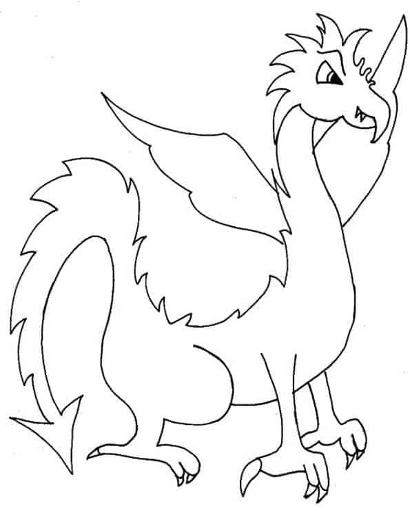 Drago con becco da colorare cose per crescere - Dessin dragon facile ...