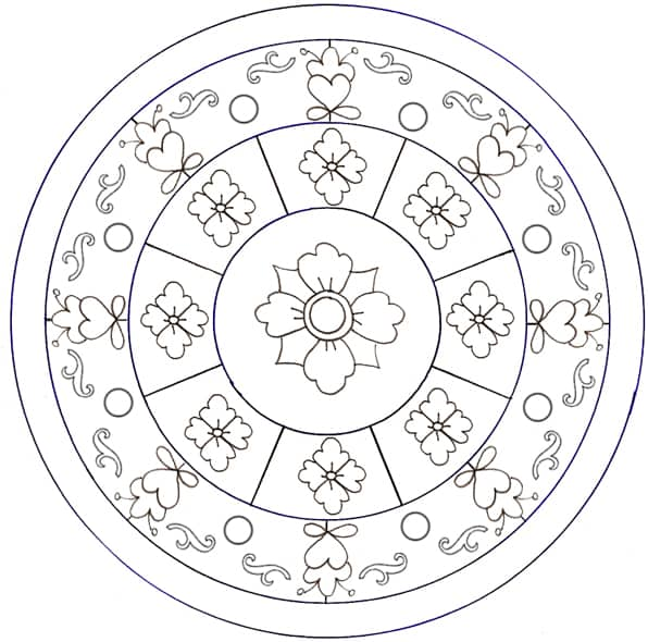 Mandala con fiori da colorare cose per crescere for Mandala da colorare con animali