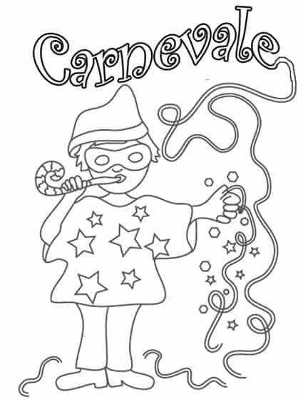 Carnevale2 for Schede carnevale da colorare