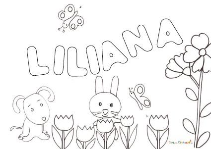 Nome Liliana Da Colorare