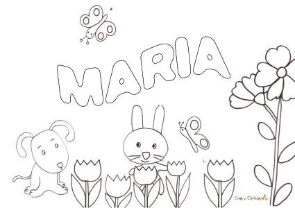 Nome Maria Da Colorare
