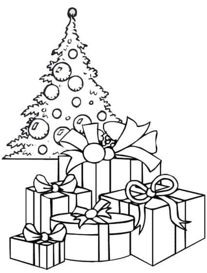 Disegni Di Natale Particolari.Disegno Di Un Albero Di Natale Con I Regali Cose Per Crescere