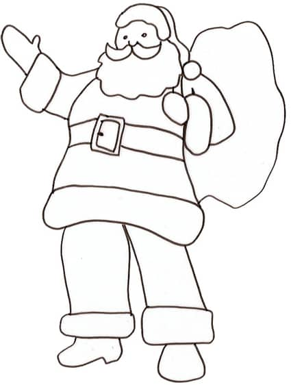 Popolare Babbo Natale da colorare - Cose Per Crescere JR94