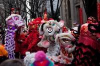 Danse du lion, Nouvel an chinois