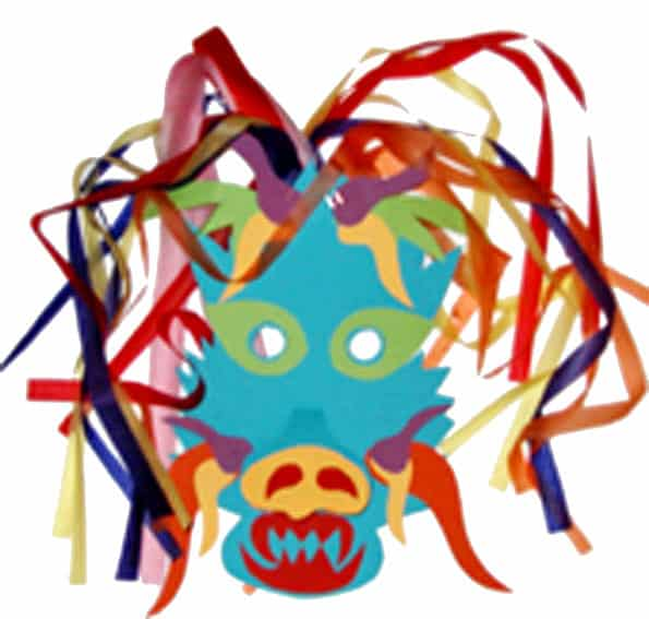 Maschera di drago cinese
