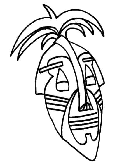 Maschera africana da colorare cose per crescere for Disegni facili da riprodurre