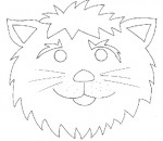 Maschera da leone da colorare
