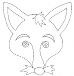 Maschera da volpe da colorare