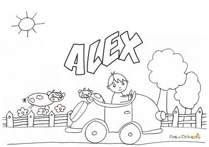 Nome Alex Da Stampare E Colorare Gratis
