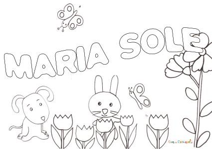 Maria sole for Sole disegno da colorare