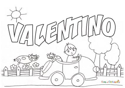 Valentino for Pimpa da stampare e colorare