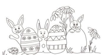 Uova Di Pasqua Da Colorare Disegni Per Bambini Da Stampare Gratis