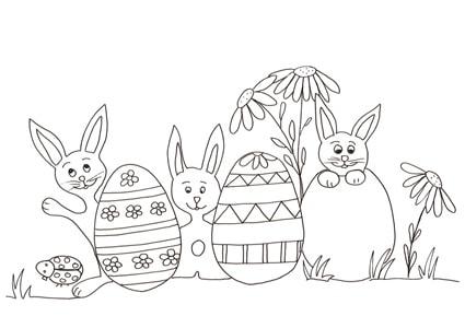 Uova Di Pasqua E Coniglietti Da Colorare Cose Per Crescere