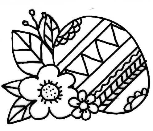 Uovo di pasqua con fiori cose per crescere for Disegni del mazzo sul basamento degli scioperi