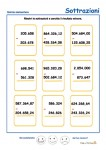 Sottrazioni con numeri decimali