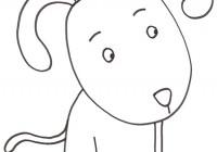Disegno di cucciolo di cane seduto for Cane da disegnare per bambini
